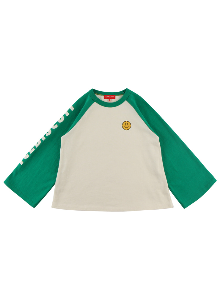 아이스비스킷 - Quiz smile A-line raglan sleeve tee 20% sale