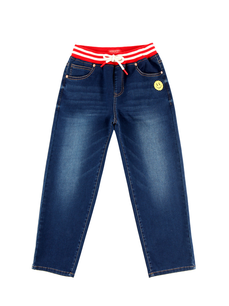 아이스비스킷 - Icebiscuit quiz smile jersey denim pants