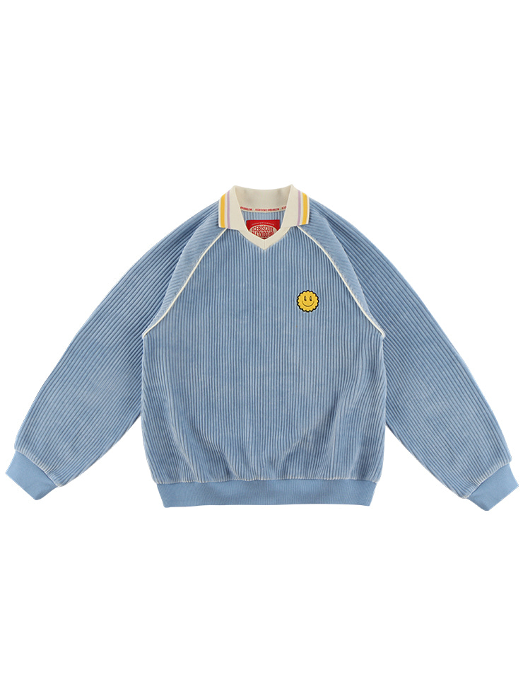 아이스비스킷 - Quiz smile collar point sweatshirt 20% sale
