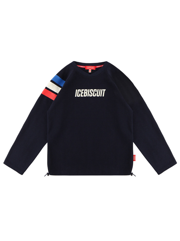 아이스비스킷 - Icebiscuit stripe point raglan tee 20% sale