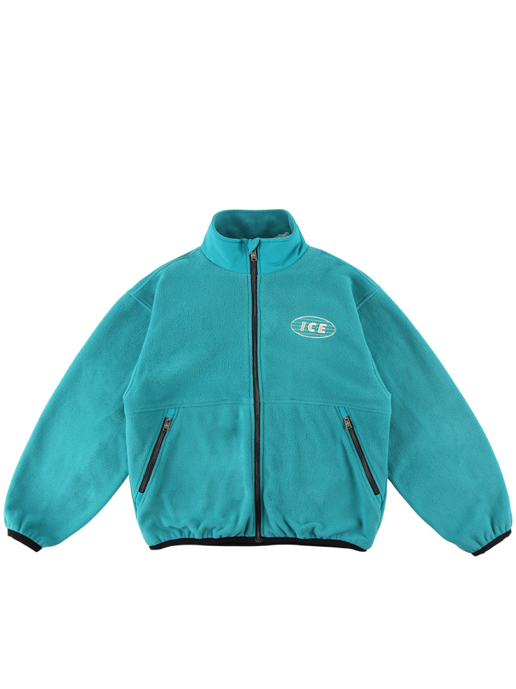 아이스비스킷 - ICE-embroidered fleece zip