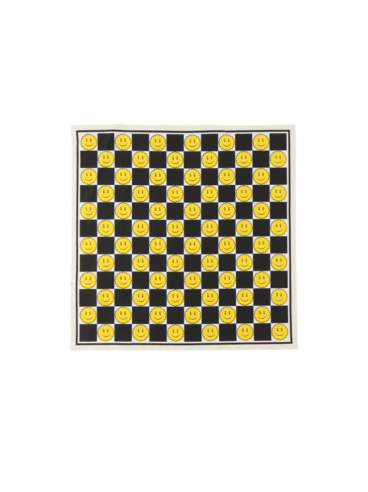 아이스비스킷 - Smile checkerboard cotton scarf