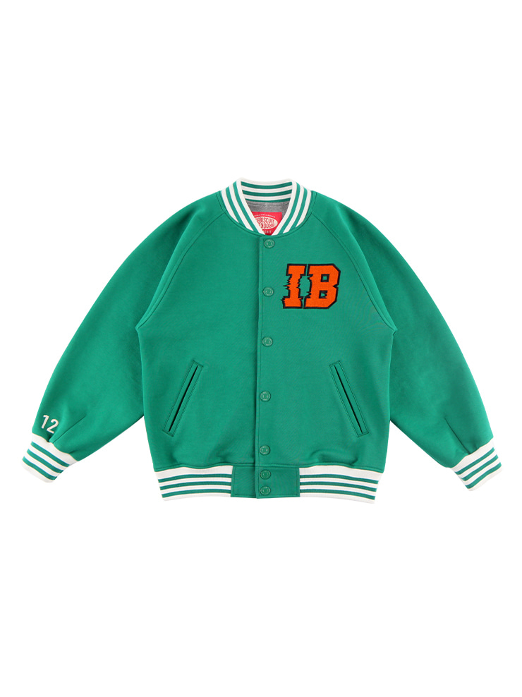 아이스비스킷 - IB-embroidered cotton baseball jacket