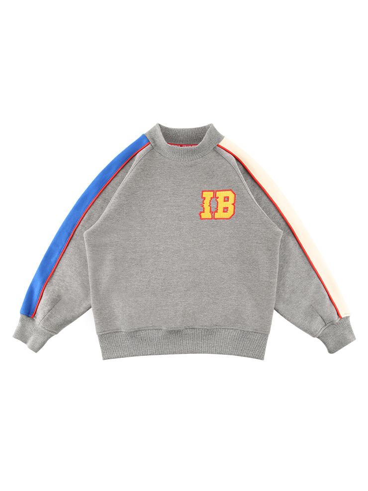 아이스비스킷 - IB-embroidere turtleneck sweatshirt (기모O)