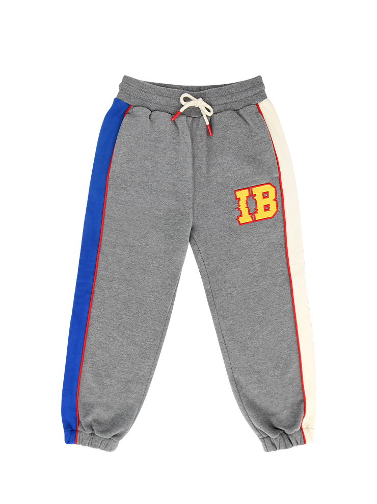 아이스비스킷 - IB-embroidered color block sweat pants (기모O)