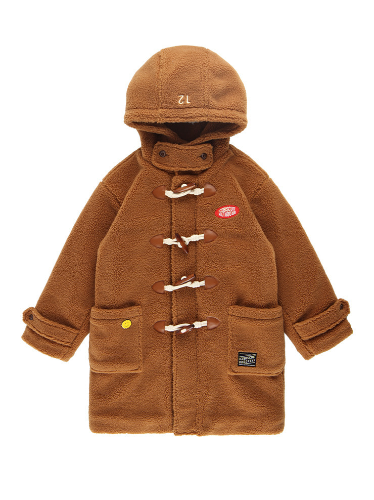 아이스비스킷 - Oversized faux fur teddy bear duffle coat
