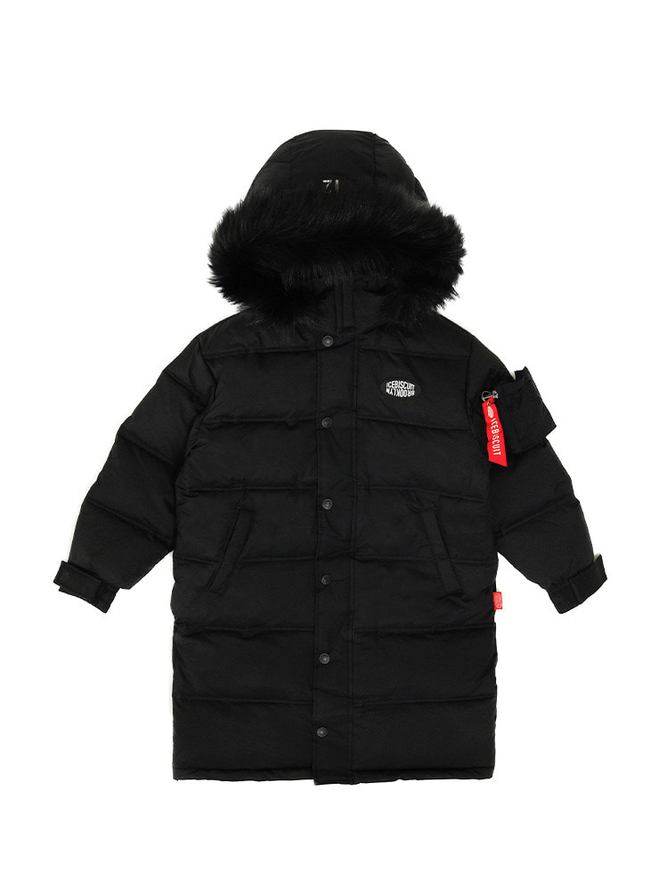 아이스비스킷 - Icebiscuit reflective long down coat