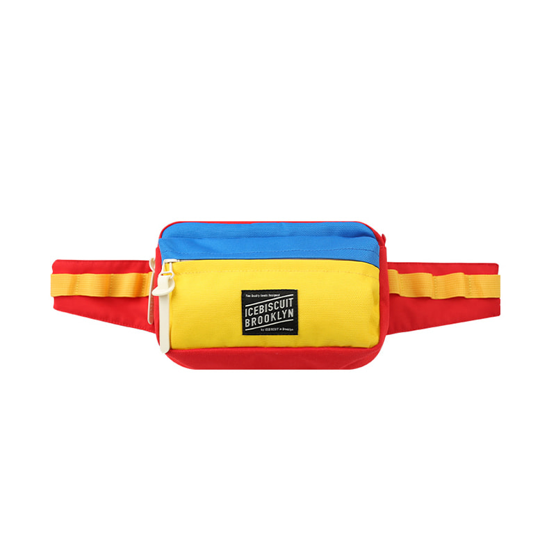 아이스비스킷 - Icebiscuit color block waist bag