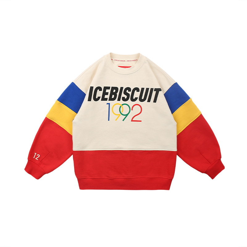 아이스비스킷 - 1992 Icebiscuit color block sweatshirt 20% sale