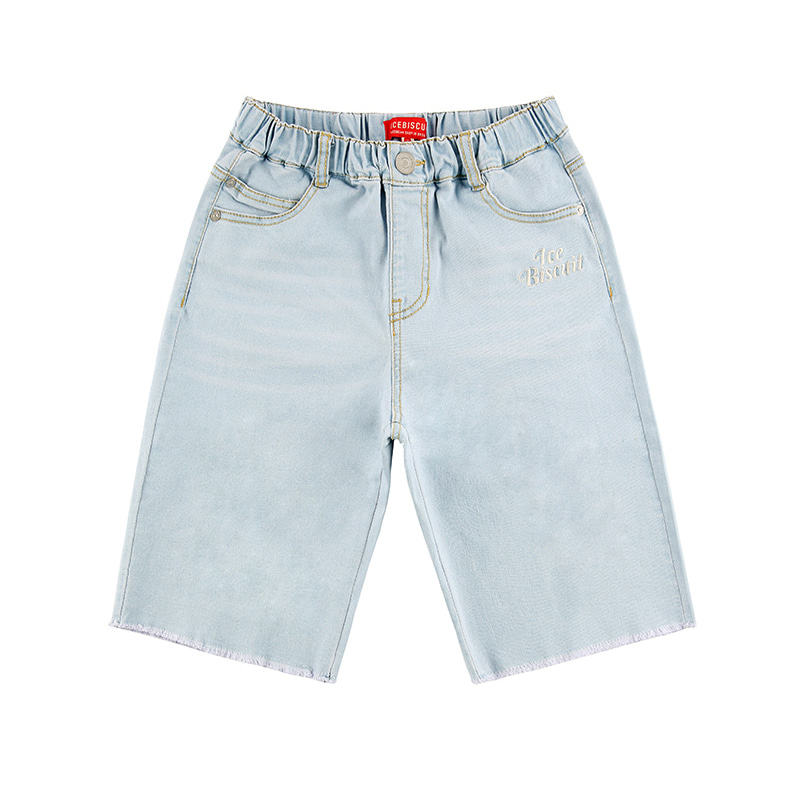 아이스비스킷 - Icebiscuit high waist cut-off denim shorts 10% sale