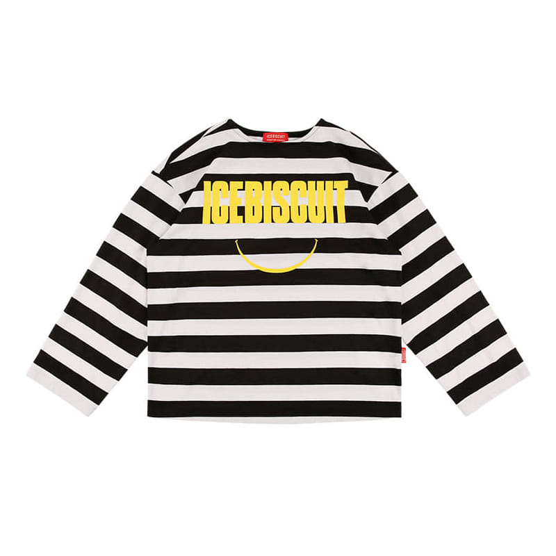 아이스비스킷 - Icebiscuit smile stripe tee 20% sale