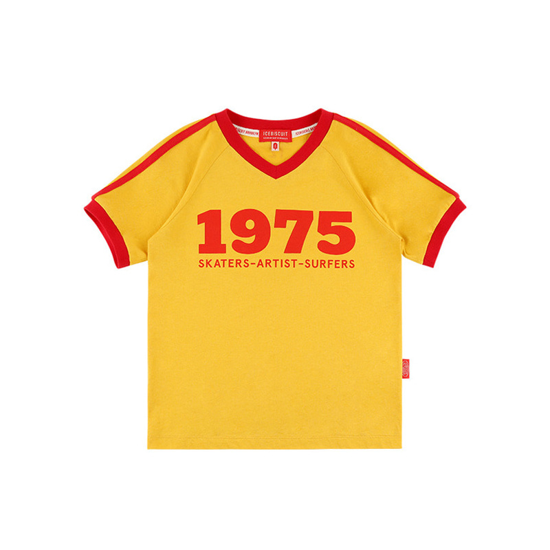 아이스비스킷 - 1975 V-neck ringer tee 20% sale