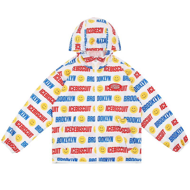 아이스비스킷 - Smile Icebiscuit-printed windbreaker 30% sale