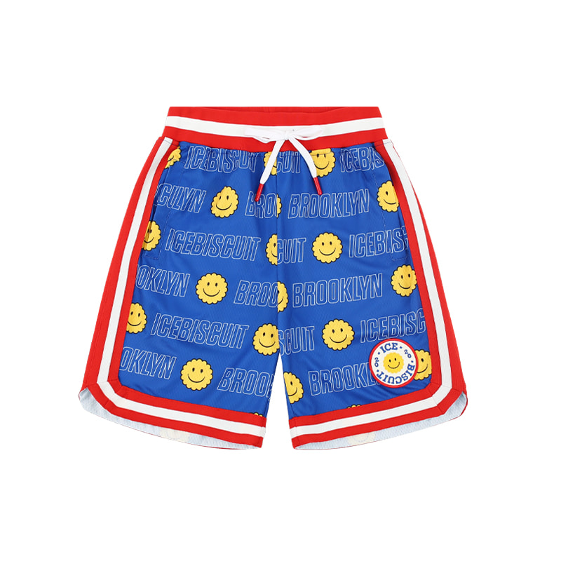 아이스비스킷 - Smile Icebiscuit-printed jersey mesh shorts 30% sale